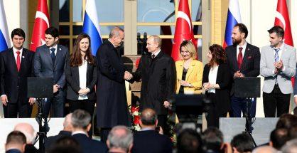Putin & Erdogan lay foundation of Akkuyu Nuclear Plant in Mersin with a ceremony