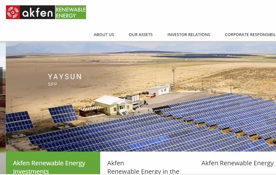 A giant company in Turkey's renewable energy sector: Akfen Renewable Energy
