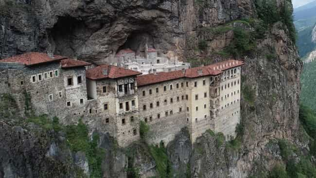 Sumela Monastery in Macka is among most interesting historical attractions of Turkey