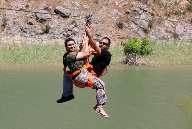 Zipline Over Euphrates River 2 Business Turkey Today News Economy Politics Travel